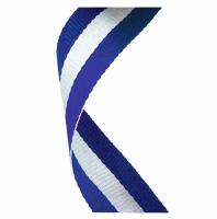 Medal Ribbon Blue White & Blue Blue/White/Blue 7/8 x 32 Inch