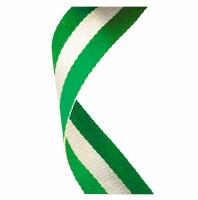 Medal Ribbon Green White & Green Green/White/Green 7/8 x 32 Inch