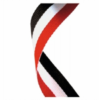 Medal Ribbon Red White & Black Red/White/Black 7/8 x 32 Inch