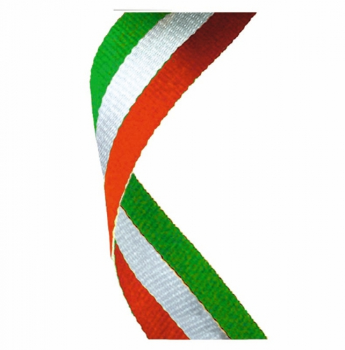 Medal Ribbon Red White & Green Red/White/Green 7/8 x 32 Inch