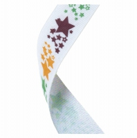 Medal Ribbon Stars White/Gold/Maroon/Green 7/8 x 32 Inch