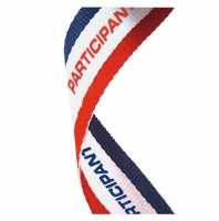Medal Ribbon Participant Red/White/Blue 7/8 x 32 Inch
