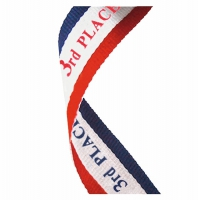 Medal Ribbon 3rd Place Red/White/Blue 7/8 x 32 Inch