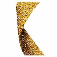 Glitter Ribbon Gold Gold Glitter 7 / 8 x 32 Inch