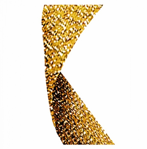 Glitter Ribbon Gold Glitter 7/8 x 32 Inch