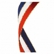 Glitter Ribbon Red White & Blue Red/White/Blue Glitter 7/8 x 32 Inch