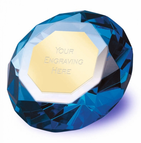 Clarity Blue Diamond100 3 7 8 Inch H (10cm H) : New 2019