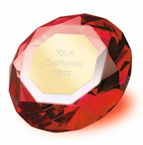 Clarity Red Diamond 3 7 8 Inch H (10cm H) : New 2019