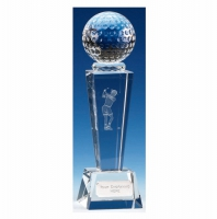 Unite Female Golfer Optical Crystal Clear 8.5 Inch