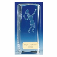 Clairty4 Crystal Tennis Female Clear 4.5 Inch