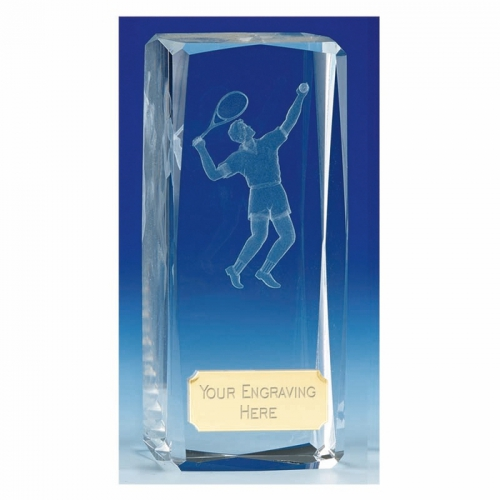 Clairty4 Crystal Tennis Male Clear 4.5 Inch