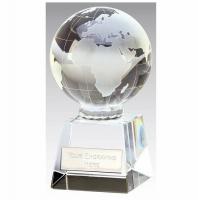 Globe Optical Trophy Clear 3 7/8 Inch