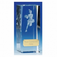 Clarity Netball Crystal Trophy Award