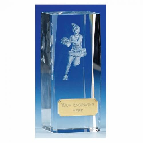 Clarity Netball Crystal Trophy Award
