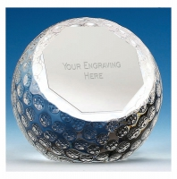 OrbGolf80 Paperweight Optical Crystal 80mm