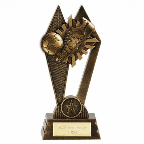PEAK Football Trophy Award Boot & Ball - AGGT - 7 (17.5cm) - New 2018