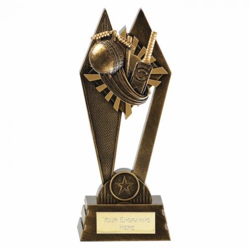 PEAK Cricket Trophy Award - AGGT - 8 7/8 Inch (22.5cm) - New 2018