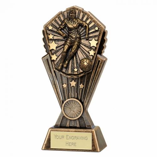 Cosmos Female Football Trophy 8 Inch (20cm) : New 2019