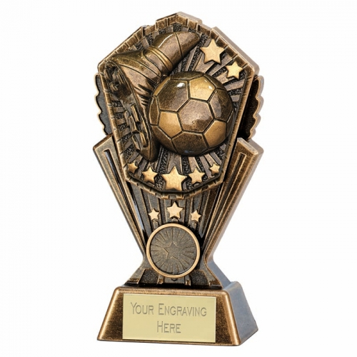 Cosmos Football Boot & Ball Trophy 7 inch (17.5cm) : New 2019