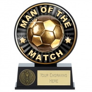 Vibe Man of the Match Football Trophy 4.75 Inch (12cm) : New 2019