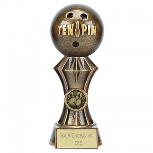 Diamond Ten Pin Bowling Trophy 7 Inch (17.5cm) : New 2019