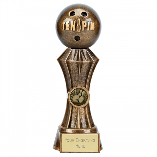 Diamond Ten Pin Bowling Trophy 9 Inch (22.5cm) : New 2019
