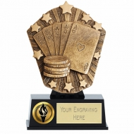 Cosmos Mini Poker Trophy Award 4 7/8 Inch (12.5cm) : New 2020
