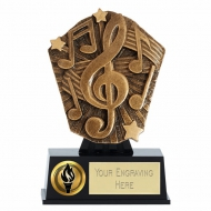 Cosmos Mini Music Trophy Award 4 7/8 Inch (12.5cm) : New 2020