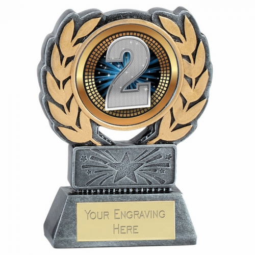 Force Resin 2nd Place Trophy Award 4.5 Inch (11.5cm) : New 2020