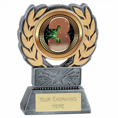 Force Resin 3rd Place Trophy Award 4.5 Inch (11.5cm) : New 2020