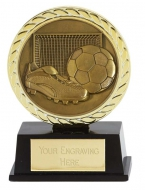 Vibe Super Mini Football Trophy Award 3 3/8 Inch (8.5cm) : New 2020