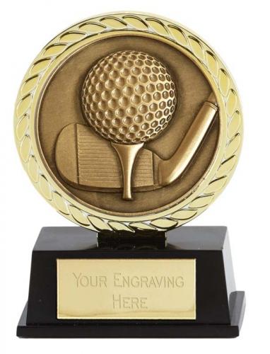Vibe Super Mini Golf Trophy Award 3 3/8 Inch (8.5cm) : New 2020