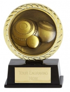 Vibe Super Mini Lawn Bowls Trophy Award 3 3/8 Inch (8.5cm) : New 2020