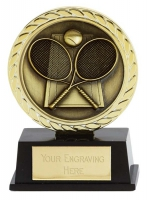 Vibe Super Mini Tennis Trophy Award 3 3/8 Inch (8.5cm) : New 2020