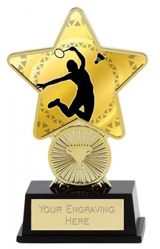 Badminton Trophy Award Superstar Mini Gold 4.25 Inch (10.5cm) : New 2020