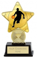 Basketball Trophy Award Superstar Mini Gold 4.25 Inch (10.5cm) : New 2020