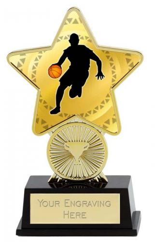 Basketball Trophy Award Superstar Mini Gold 4.25 Inch (10.5cm) : New 2020