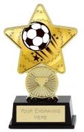 Football Trophy Award Superstar Mini Gold 4.25 Inch (10.5cm) : New 2020