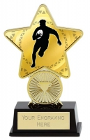 Rugby Trophy Award Superstar Mini Gold 4.25 Inch (10.5cm) : New 2020