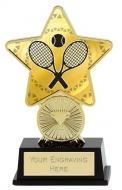 Tennis Trophy Award Superstar Mini Gold 4.25 Inch (10.5cm) : New 2020