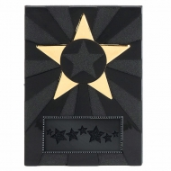Apex Star3 Plaque Black/Gold 3.5 Inch