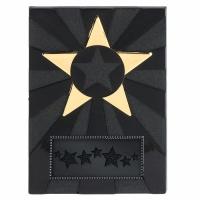 Apex Star3 Plaque Black/Gold 3.5 Inch