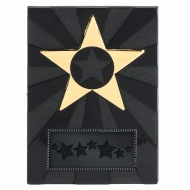 Apex Star4 Plaque Black/Gold 4 Inch