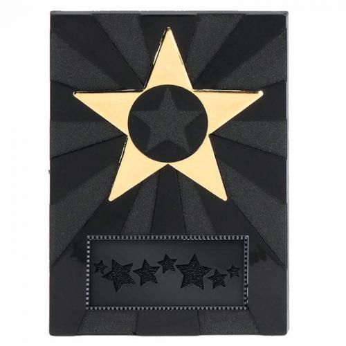 Apex Star4 Plaque Black/Gold 4 Inch