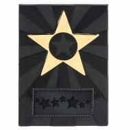Apex Star4.5 Plaque Black / Gold 4.5 Inch