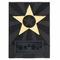 Apex Star4.5 Plaque Black/Gold 4.5 Inch