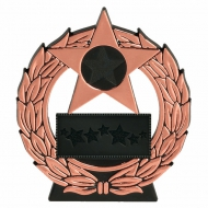 Mega Star Sports Day Plaque Bronze / Black 4.5 Inch