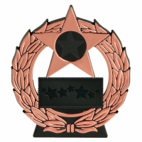 Mega Star4.5 Bronze Plaque Black/Bronze 4.5 Inch