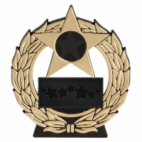 Mega Star4.5 Gold Plaque Black/Gold 4.5 Inch