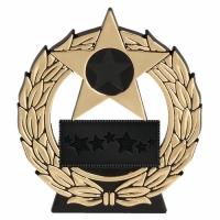 Mega Star4.5 Gold Plaque Black/Gold 4.5 Inch